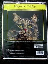 Majestic Tabby Cat Cross Stitch Kit Jeanette Crews Catman Drew Strouble Unsealed