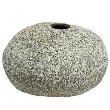 Japanese Ikebana Vase TOKONAME-YAKI Ceramic Rock Design/Medium/ Made in Japan