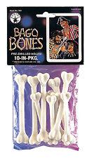 Fancy Dress Caveman Cavewoman Plastic Skeleton Bones -Pack of 10 - Various Sizes