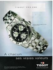 Publicité Advertising 1999 La Montre Tissot PRS 200