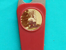 ►►Old vintage Polish Keyring Penknife Bottle Opener key ring Smurfs smurf red 2