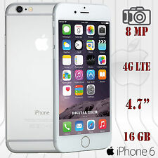 "Iphone 6 4G LTE 8MP IOS 9.0 16GB 1080p 4.7"" HD Factory Unlocked GSM Phone Silver"