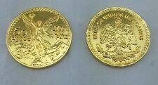 50 CENTENARIO COIN GOLD PLATED WITH PLASTIC HOLDER+free shipping+No Tax sell !!