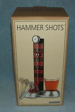 HAMMER SHOTS By Barbuzzo Alcohol Drinking Game Party Glass Ring Bell Novelty