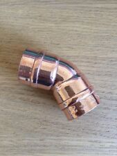 22mm Solder Ring 45 Degree Obtuse Elbow Capillary Fitting For Copper Pipe