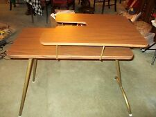 VINTAGE 2 TIER FOLDING SEWING TABLE ROBERTS MANUFACTURING CO.