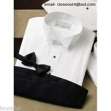 New Wing Collar Tuxedo Shirt 17 - 17 1/2 Neck 36 - 37 Sleeve FREE Stud/Link Set