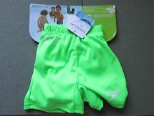 SPEEDO Swim Diaper Swimming BOYS Shorts S Small 0-6 Months GREEN BRAND NEW