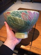 "Rare Vintage T & S Harlander Studio Pottery Bowl Brooklin ON 81/3"" Diameter 53/4"