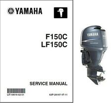 Yamaha F150 LF150 Outboard Motor Service Repair & Owner's Manual CD .. F LF 150