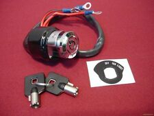 IGNITION SWITCH CHROME ROUND KEY 3 POSITION 3 WIRE HARLEY SPORTSTER  FX 73 UP
