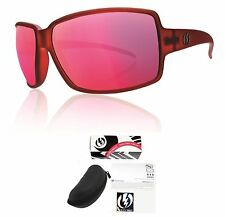 NEW Electric Vol Red Plasma Pink Chrome Mirror Womens Wrap Sunglasses Msrp$100