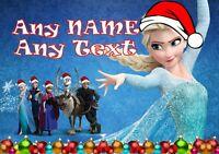 ANY NAME * A4 POSTER Personalised FROZEN ANNA Christmas Party Kids Present Gift