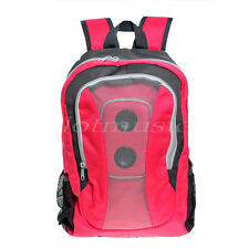 pink and gray MP3 Boom Speaker Backpack with a black battery cover