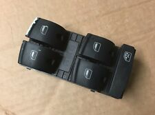 AUDI A3 8P 03-08 / A6 C6 4 DOOR DRIVER MAIN WINDOW CONTROL SWITCH BUTTON PANEL