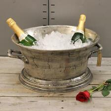 Champagne Ice Bath Cast Aluminium Vintage Distressed Finish Wine Cooler Bucket