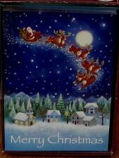 Trimming Traditions 16ct Christmas Cards with Envelopes - Santa's Sleigh - NEW