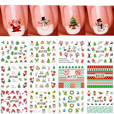 12 Sheet/Set  Xmas 3D Nail Art Stickers Snowflakes & Cute Snowmen Nail Decals