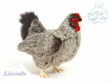 Grey Chicken/Hen Plush Soft Toy Bird by Hansa 5622