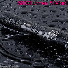 6000LM 5 Modi XM-L T6 LED Taschenlampe Focus Zoomable Lampen 18650 / AAA icht