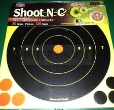 "Birchwood Casey SHOOT N C Targets 8"" 30 Pack + Extras Rifle Pistol etc"
