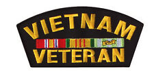 "Black 6"" Vietnam Veteran Army Military War Hat Shirt Jacket Memorial Day Patch"