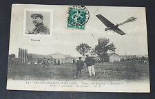 CPA 1910 AVIATION MONOPLAN ANTOINETTE AVIATEUR THOMAS AEROPLANE PIONNIERS REIMS