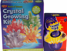 Set regalo di Pasqua-Cristallo In crescita Science Kit/Cadbury Creme Uova di cioccolato