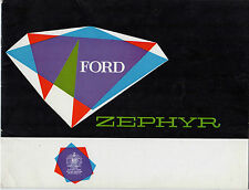 Ford Zephyr Mk2 1961 UK Market Sales Brochure Saloon Convertible