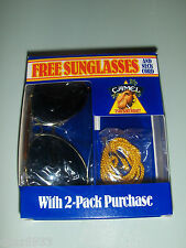 SUNGLASSES NECK CORD JOE CAMEL 75TH YEAR BIRTHDAY 1988 CIGARETTE
