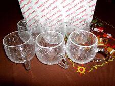 6 Vintage Henkelgläser Bowlegläser Krakelee Kraklé Craquelé Craqueleglas W1D
