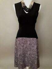 New Sport Max by Max Mara Black/Tweed Combination Sleeveless Dress Size 36(2)