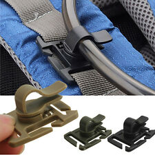 Four Pack (4) Black MOLLE Hydration Clip For  Camelback or Water Pack