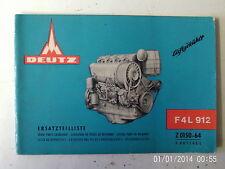 Deutz FAHR F4L 912 Spare Parts Catalogue