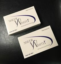 Sheer White Teeth Whitening Strips Films Kit 20% 2-Pack