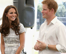 Catherine, Duchess of Cambridge & Prince Harry UNSIGNED photo - H5821