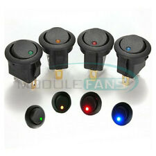 4PCS LED Dot Light Car Auto Boat 3Pin Round Rocker ON/OFF Toggle SPST Switch 12V
