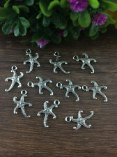 Wholesale 16pcs Tibet silver Starfish Charm Pendant beaded Jewelry Findings !!!!