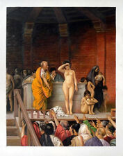 Ölbilder Ölgemälde Gemälde Slave Auction von Gérôme 80 cm x 60 cm