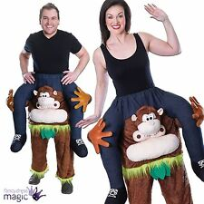 Schweinchen Rücken Affe Halloween Schimpanse Kostüm Maskottchen Trage Mich Spaß