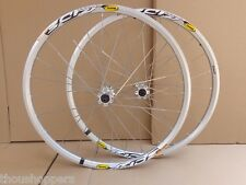 "New Mavic Crossride 3CR 26"" MTB 6-bolts Mountain Bike F&R Silver Wheels Wheelset"