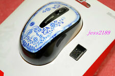 NEW Microsoft - Wireless Mobile Mouse 3500 blue and white porcelain GMF-00062