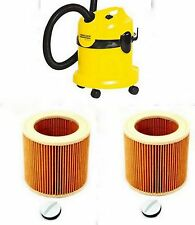 TWO KARCHER Vacuum Cleaner Hoover Wet Dry Pleated CARTRIDGE FILTERS