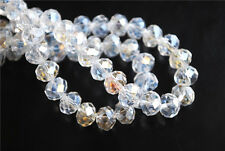 Hot! 20Pcs Clear AB Crystal Glass Faceted Rondelle Bead 12x8mm Spacer Findings