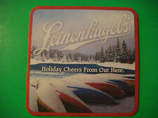 2011 Beer Coaster    LEINENKUGEL'S Holiday ~ Chippewa Falls, WI    Canoes & Snow