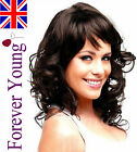 Ladies Long Dark Brown Full Wig Hair in Curly Style. Forever Young Fashion Wigs