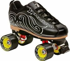 NEW! LABEDA VOODOO U7 BLACK QUAD SPEED ROLLER SKATES MENS sz 5.5 ABEC 9 $250