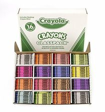 BRAND NEW! Crayola 800CT Regular Size Crayons 16 Colors Classpack
