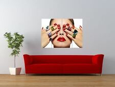 SALON SPA HEALTH BEAUTY NAILS MANICURE GIANT ART PRINT PANEL POSTER NOR0334