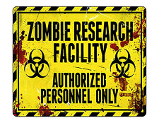 "9""x7"" MOUSE PAD - Zombie Research Facility Halloween PC Computer Office Mousepad"